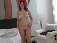 Lovable pale redhead babe Nanny with curvy hips and fat