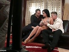 Aletta Ocean with gigantic knockers strips forth with regard to