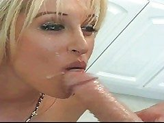 Famous tanned blonde pornstar Jill Kelly with natural tits with an increment of