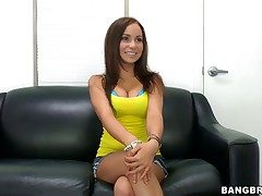 Bella Sianna does striptease before she rural area