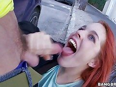Amarna Miller is a cute red-haired Spanish chick that likes