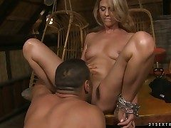 Blonde Mouth-watering Claudia fucks a lot