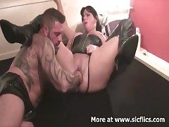 Brutally fisting my wifes huge cunt till she screams